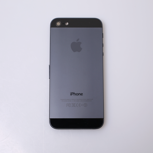 Komplettes Gehäuse für iPhone 5 A1429 in Schwarz Graphit Grade B Front